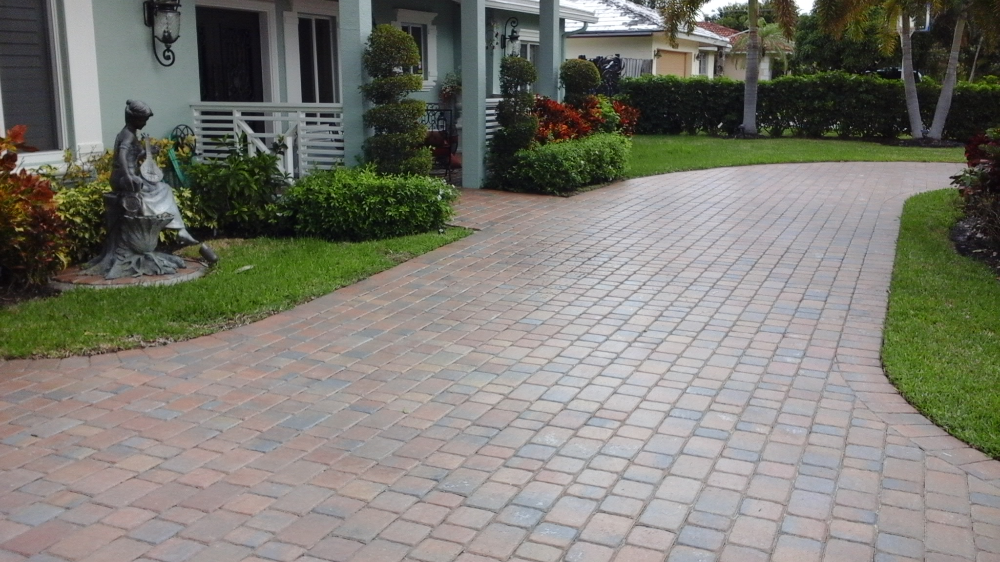 fort lauderdale paver driveway install